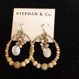 Hanging beaded earrings by Stephan & co